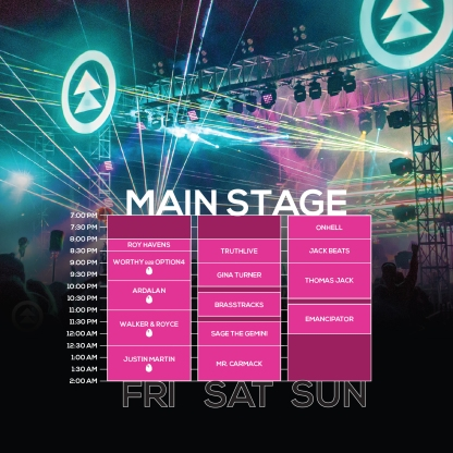 NN18 Main Stage Set Times