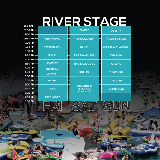 NN18 River Stage Set Times